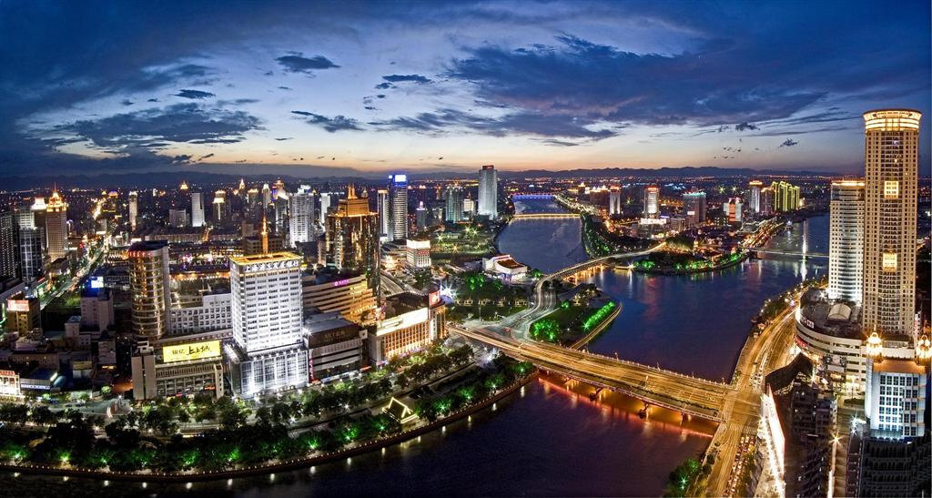 Ningbo City at night