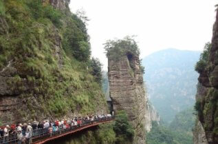 Wenzhou tourists visiting