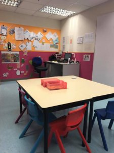 my classroom in Hong Kong