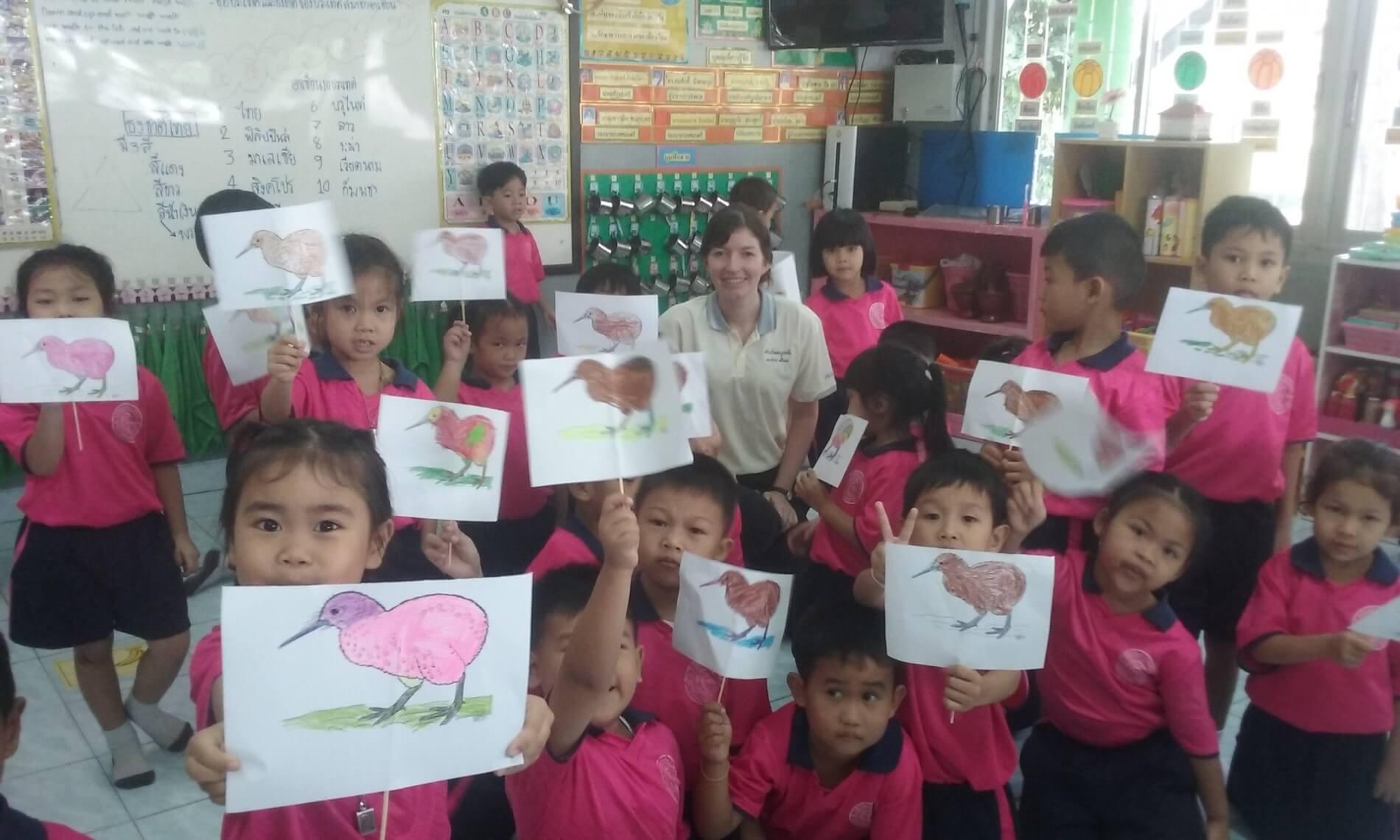 My class in Thailand