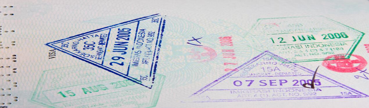 passport stamps of jakarta