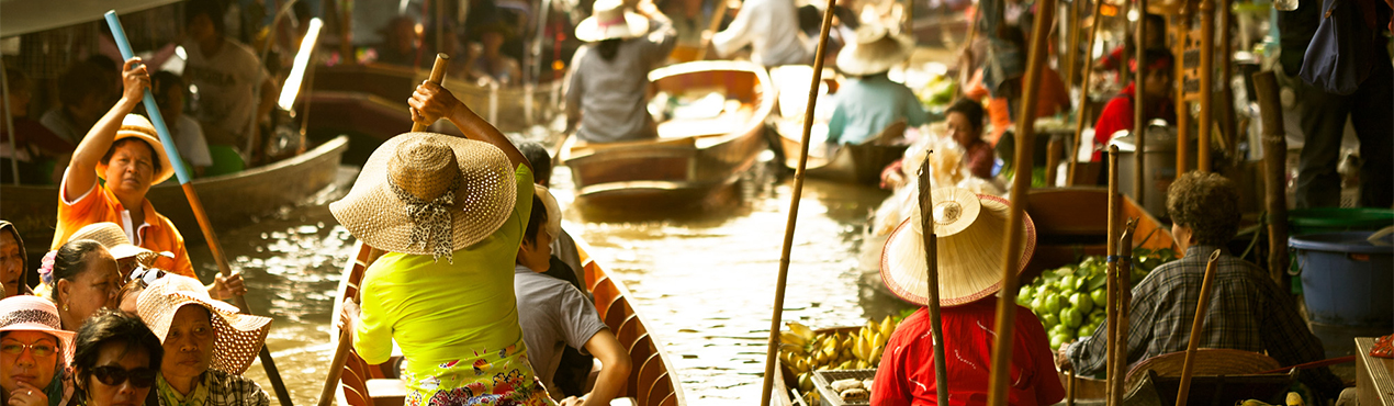 Floating market in Thailand